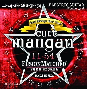 11 - 54 Curt Mangan Pure níquel cuerdas para guitarra eléctrica: Amazon.es: Instrumentos musicales