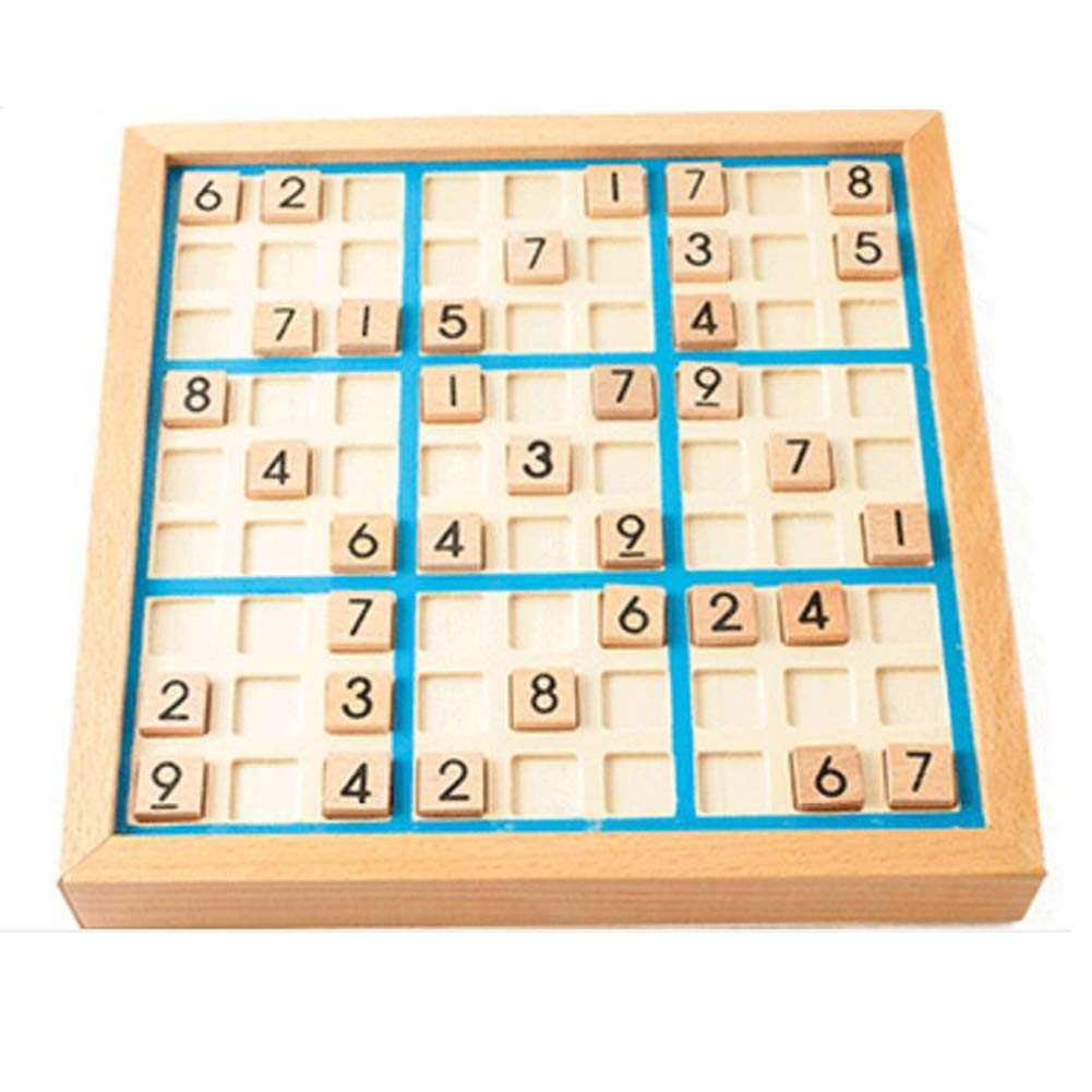 Deluxe Wooden Sudoku Puzzle with Wooden Number and Thinking Tiles