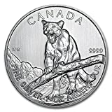 2012 CA Canada 1 oz Silver Wildlife Series Cougar 1 OZ Brilliant Uncirculated