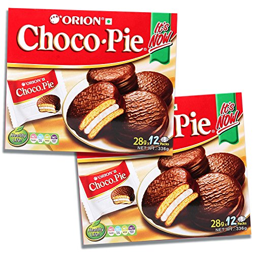 Orion Choco Pie, Marshmallow Cream Chocolate Cupcake Dessert Sandwich (24 Pieces)