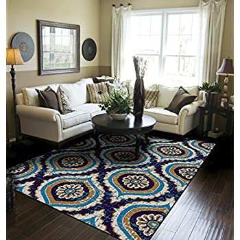 Modern Area Rugs For Living Room 8x10 Navy Large Rugs For Dining Room 8x11  Clearance Under 100