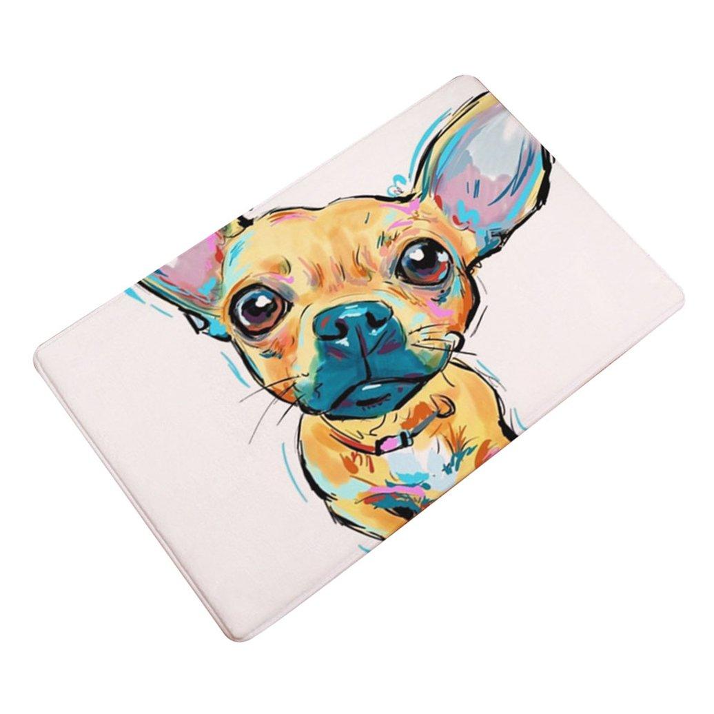 Alamana 40x60/50x80cm Colorful Dog Welcome Floor Indoor Outdoor Non-Slip Door Mat Rug size 40x60cm (1#)