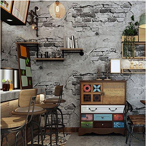 Papiers Peints Yosot 3d Retro Mur Brique Ciment Etanche Effet Papier Peint Chambre Salon Restaurant Fond Papier Peint Gris Fonce Bricolage Hotelaomori Co Jp