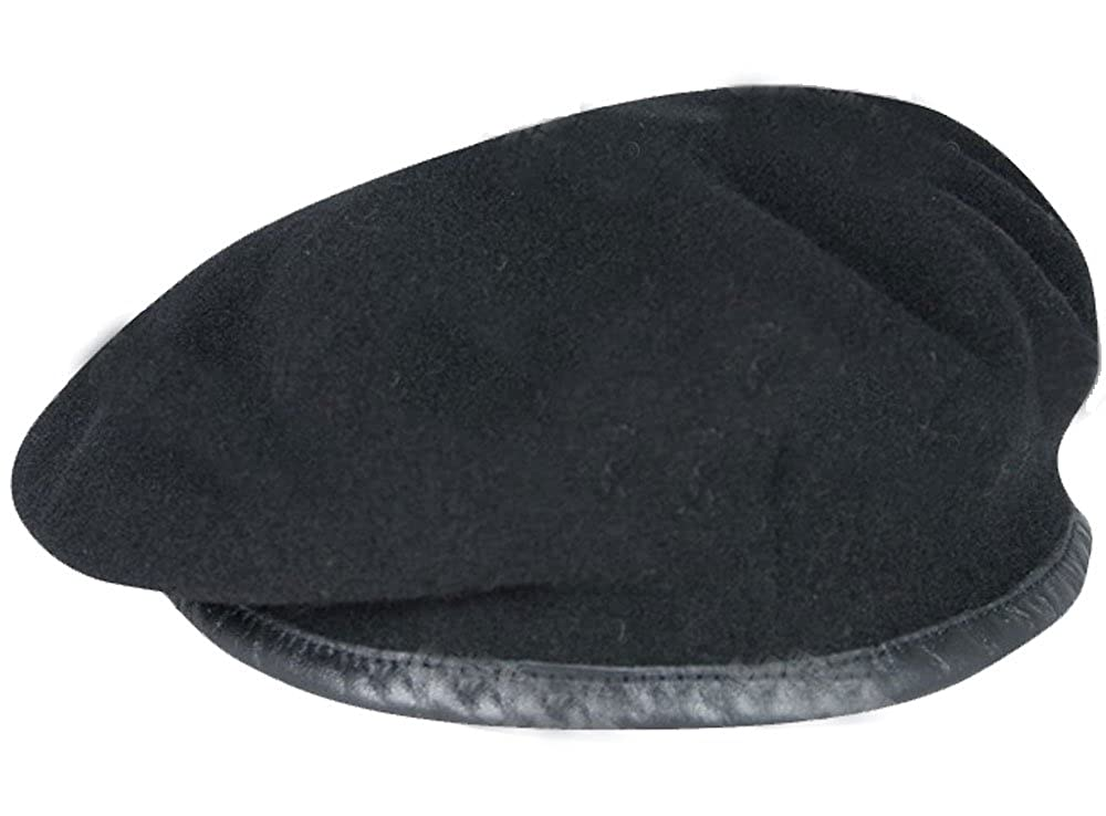 High Quality Black British Army Beret - All Sizes - (RTR , Dragoons)