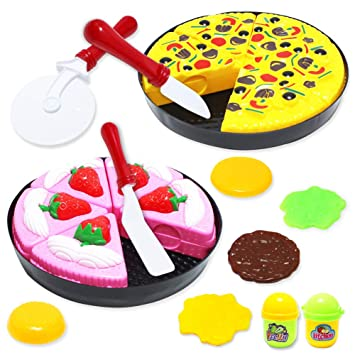 Amazon Com Huashan Pizza Cake Vegetables Fruits Pretend Play