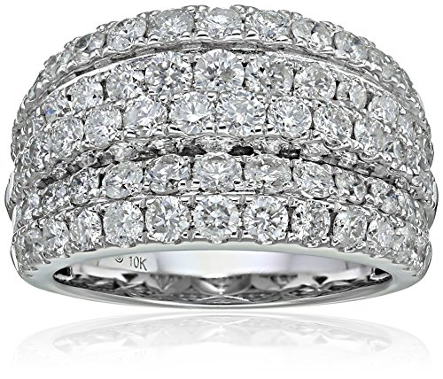 10k-White-Gold-Diamond-Wide-Dome-Anniversary-Ring-3cttw-I-J-Color-I2-I3-Clarity-Size-7