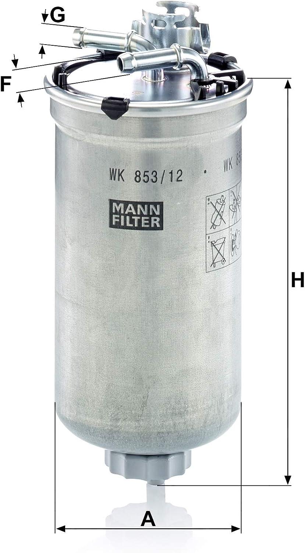 Original Mann Filter Kraftstofffilter Wk 853 12 Für Pkw Auto
