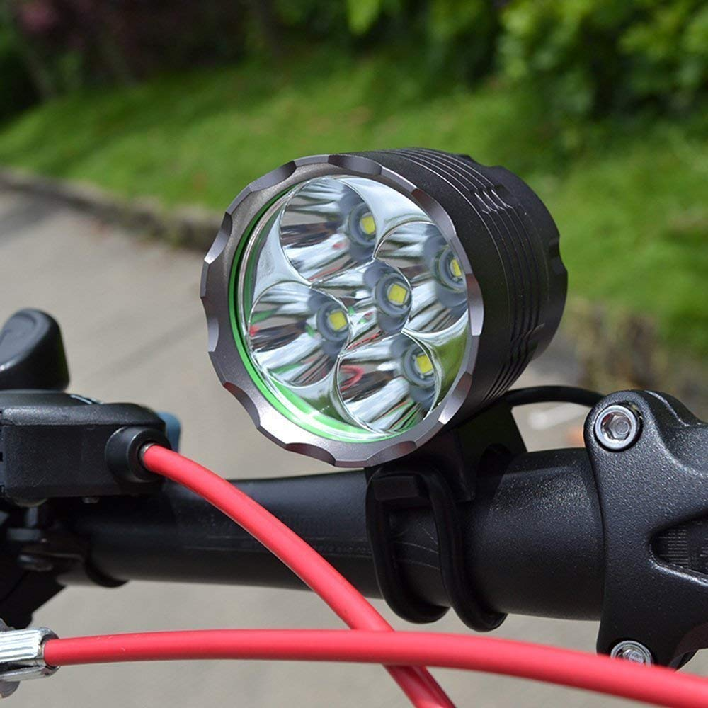 BYBO® Bike Bicycle Cycling Lights Cree XML T6 LEDs MTB Mountain Headlight Headlamp Waterproof USB Rechargeable Torch 8.4V 18650 Battery Pack 8000mAh 5600 Lumens