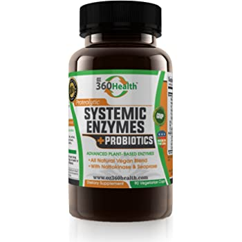 Amazon Com Fibrenza Systemic Enzyme 500mg 60 Capsules