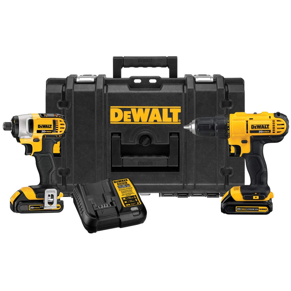 Dewalt DCKTS240C2R 20V MAX Cordless Lithium-Ion Drill Driver and Impact Driver Combo Kit with ToughSystem Renewed