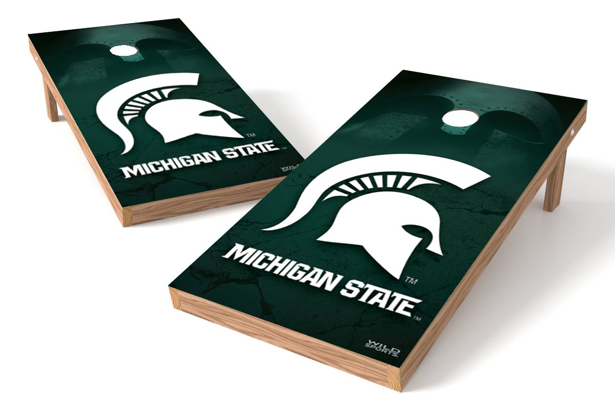 【国際ブランド】 ワイルドスポーツNCAA 2 ' x Spartans 4 Game ' Michigan Authentic Cornhole Game Set B00L6F1L9W Michigan State Spartans, シルバーアクセサリー夢ロード:2b95ebae --- arianechie.dominiotemporario.com