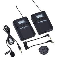 Système de Microphone sans Fil Lavalier WM8 UHF 6 Canaux Micro-Cravate Système avec Emetteur Récepteur pour Appareil Photo