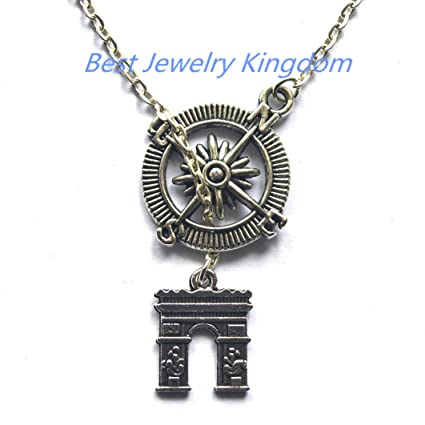 Compass Necklace Christmas Gift Graduation Friendship NecklaceDoor Jewelry