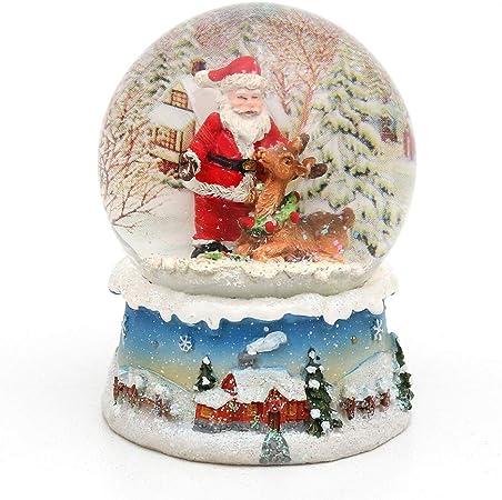 Dekohelden24 Bola de Nieve, Santa, tamaño h/b/diámetro Bola: Aprox. 8,5 x 7 cm/diámetro 6,5 cm.: Amazon.es: Hogar
