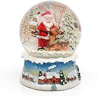 Dekohelden24 Bola de Nieve, Santa, tamaño h/b/diámetro Bola: