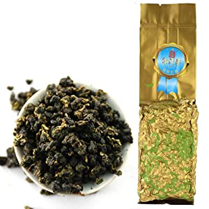 FullChea - Jin Xuan Milk Oolong Tea - Taiwaness Oolong Tea Loose Leaf - Taiwan High Mountain Tea - Delicate and Silky Smooth - Stabilizes Blood Sugar (5.29oz / 150g)