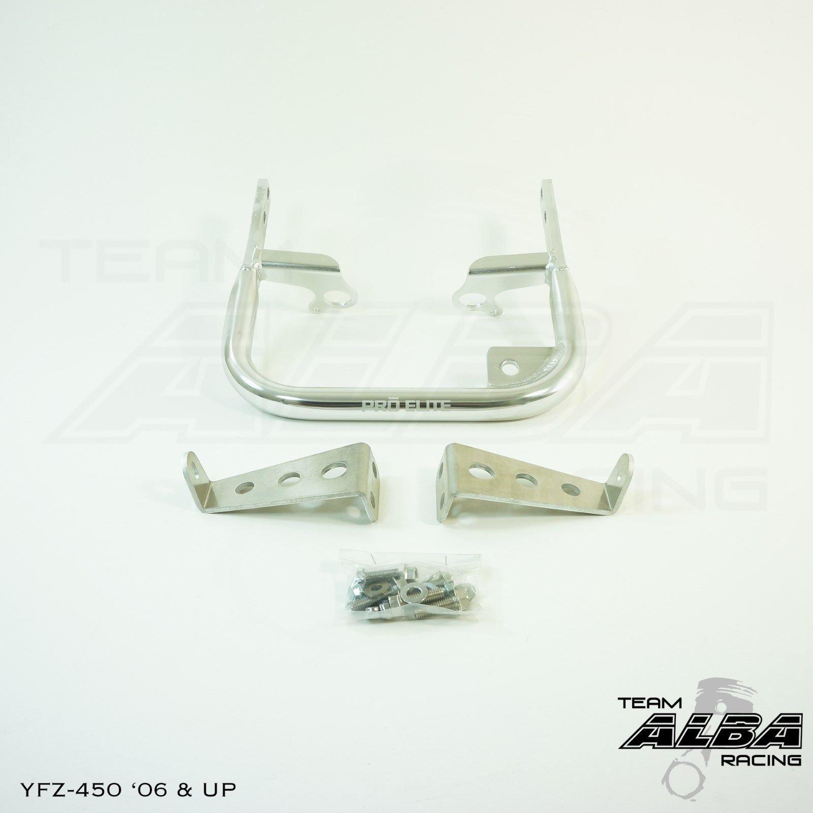 Yamaha YFZ 450 Models (2004-2009/2012-2013) ATV Rear Grab Bar Bumper Silver
