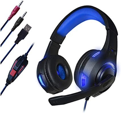 AUSDOM Gaming Headphone Headset 3.5mm Over-Ear Earphone /& Microphone For PS4 PC