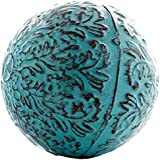 Decorative Blue Metal Sphere