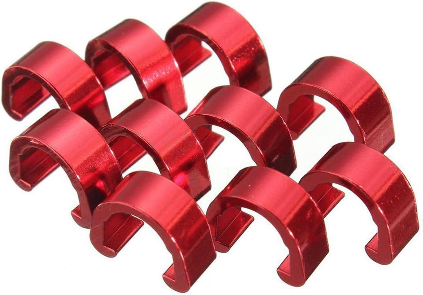 PPX 12 Piezas Tornillos Bicicleta Bici M5x10mm Disc Freno Pernos del Rotor y 10 Aluminio C Clip De Gu/ía MTB Tornillo Disco Freno de Bicicleta Monta/ña