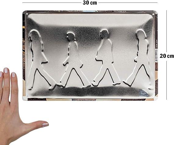 Bar MR Placa de matr/ícula Vintage Motivo The Beatles 30 X 20 cm para Decorar la Pared del hogar Tienda Pub Garaje