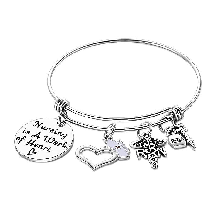 Nursing is a Work of Heart Pendent Personalized Nurse Necklace Nursing Necklace Makes Perfect Nurses Appreciation Gift