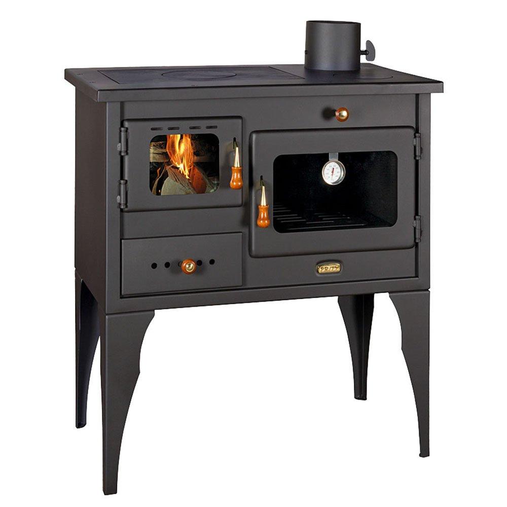 salida de calor de 10 kW horno y calienta platos modelo 1P34L Prity con patas Cocina de le/ña