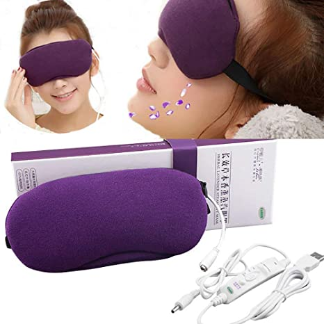 Antifaz térmico para dormir, con vapor de lavanda, temperatura ajustable y temporizador, elimina