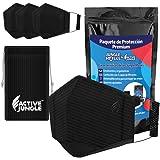 Active Jungle: Kit de 3 Cubrebocas 5 Capas de Protección Lavables +1 Bolsita Transportadora| Oreja Acolchonada | Antifluidos