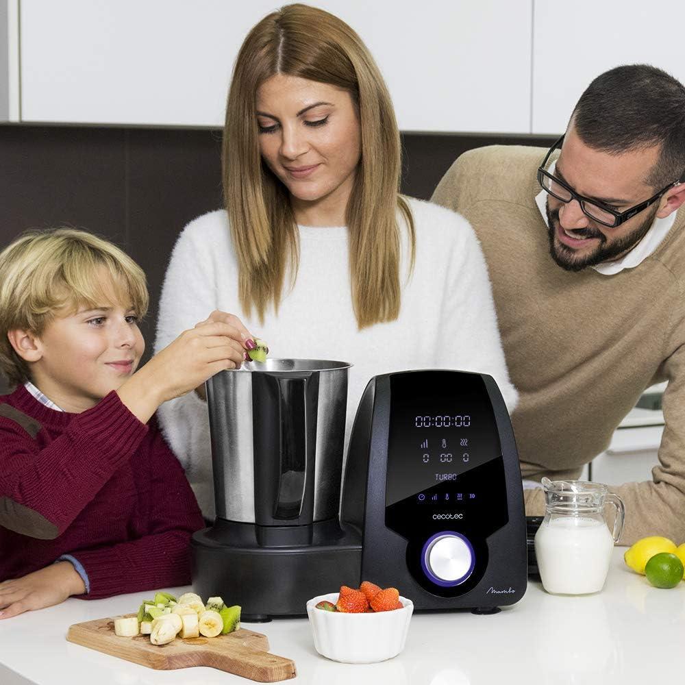 Cecotec Robot de Cocina Multifunción Mambo Black. Capacidad de 3,3l, Temperatura hasta 120ºC con Selección Grado a Grado, 10 Velocidades + Turbo, Programable hasta 12h, Incluye Recetario, 1700 W: 166.98: Amazon.es: Hogar