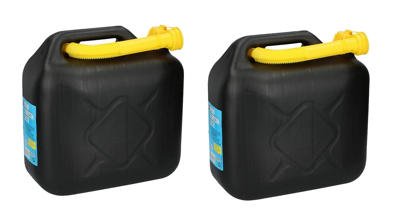 4 x 5 L Kraftstoffkanister Benzin Diesel Kanister Reservetank UN-Nummer schwarz
