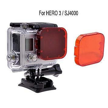 Filtro rojo para Gopro Hero3 + y Hero4, Gopro, filtro ...