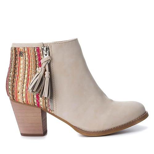 Refresh 063265 BOTÍN DE MUJER 063265 Sintético Mujer Nude 38: Amazon.es: Zapatos y complementos