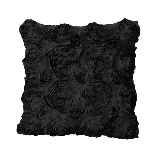 Fenteer Cubierta de CojÍn de Efecto Espiral Flor de Rosa 3D ...