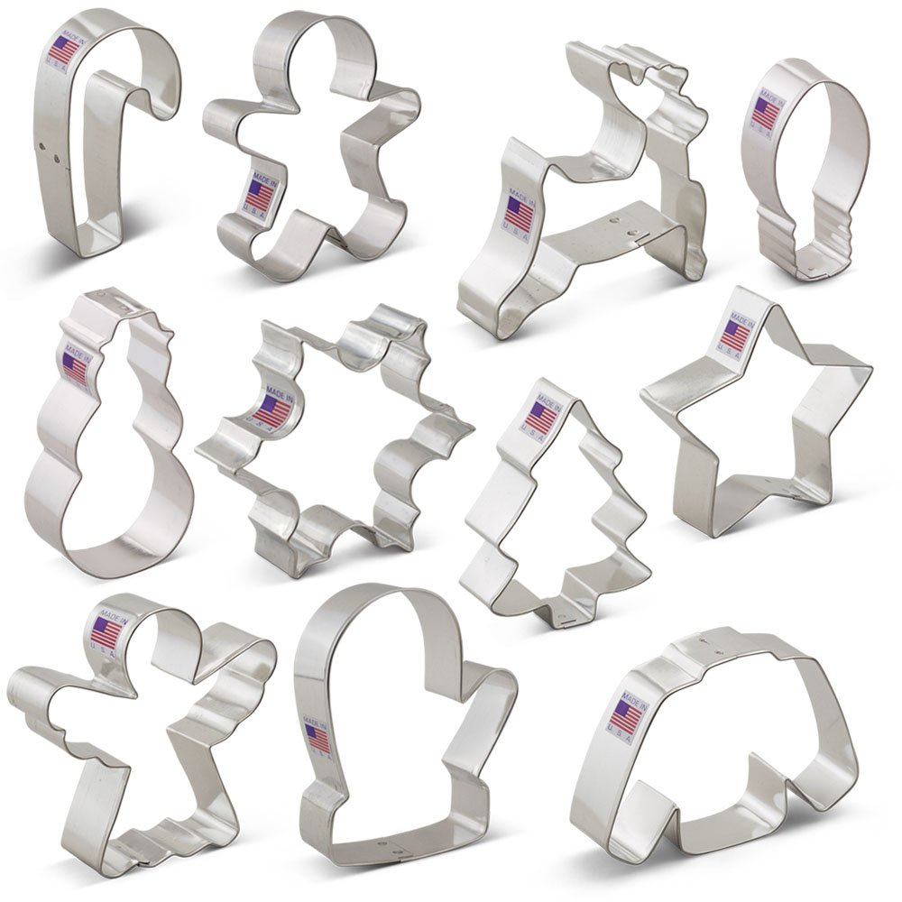 Christmas Cookie Cutter Set - 11 Piece - Holiday Shapes