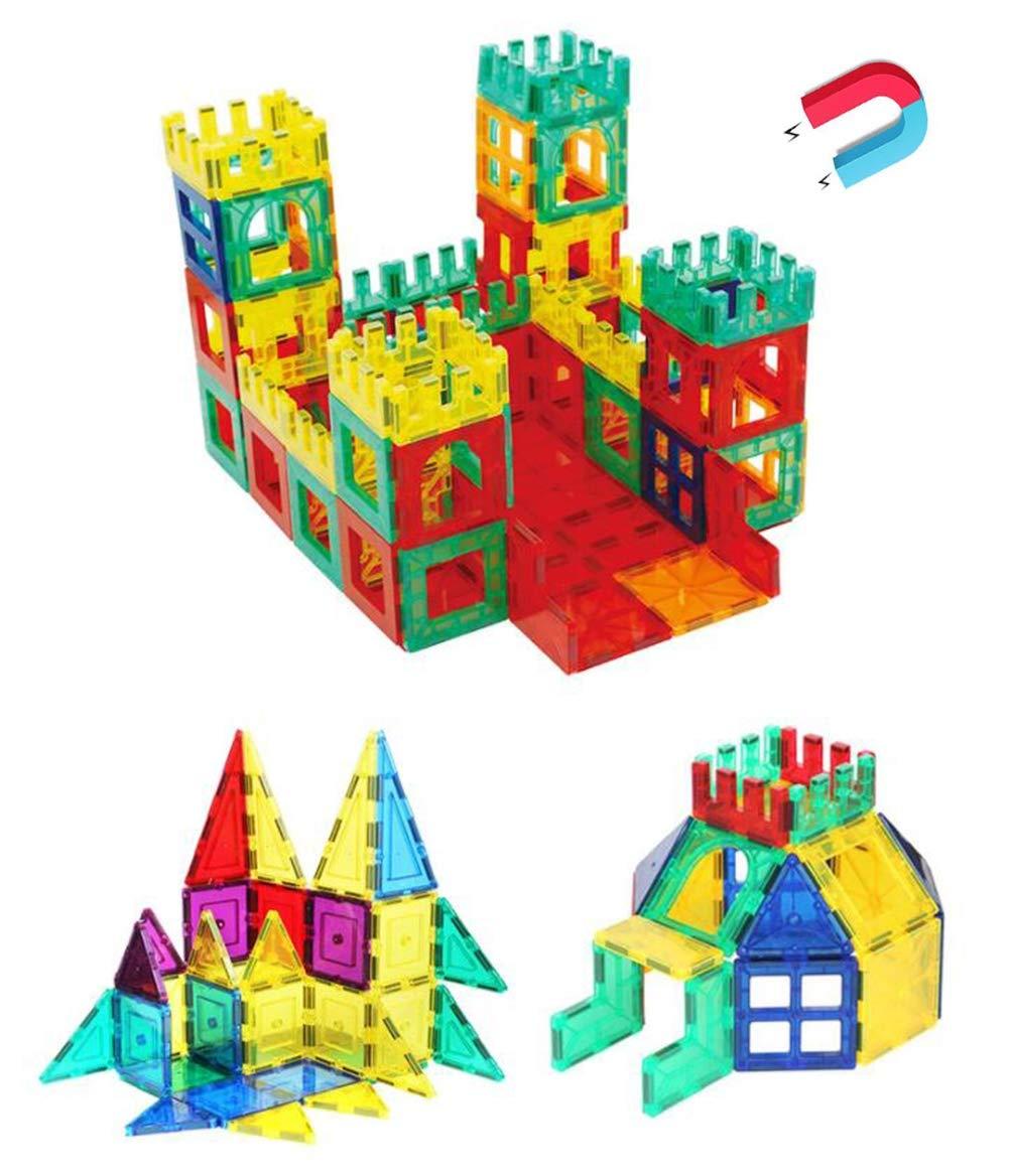 SLONG niños Bricolaje Rompecabezas Ciencia y educación Juguete Conjunto Variedad tirando Bloques de construcción Juguete magnético Pieza de plástico