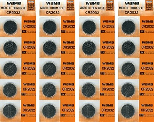 Lilys Home CR2032 Lithium 3V Batteries, 4 Cards of 5-20 Batteries