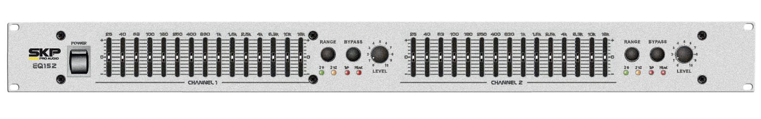 SKP PRO AUDIO EQ-152 GRAPHIC EQUALIZER 2x15 standard 2/3 octaves EQ/Bypass