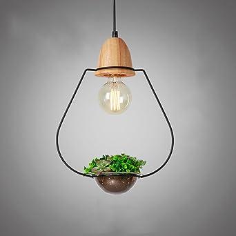 KMYX Pflanze Pendelleuchte Holz Einfache Kronleuchter Einfache Art Freie  Dekoration Pflanze Kronleuchter Kreative Persönlichkeit Restaurant  Deckenleuchten