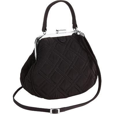 Vera Bradley Mini Frame Crossbody (Black)  Handbags  Amazon.com 9e3c3a416269c
