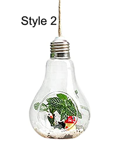 Amazon Com Freedi Hanging Terrarium Glass Vase Light Bulb Flower