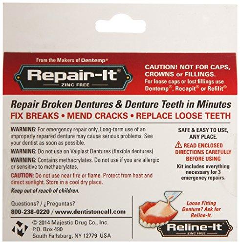 D O C Repair It Advanced Formula Denture Repair Kit 3 Ea