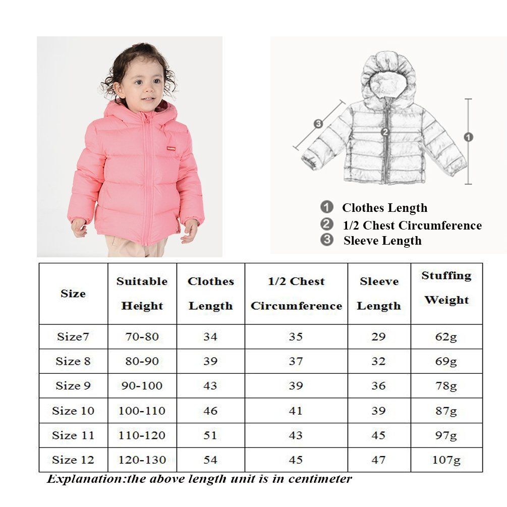 Nanny McPhee Kids Down Coat Unisex Baby Hooded Lightweight Down Puffer Jacket Outwear (More Styles Available) by Nanny McPhee (Image #7)