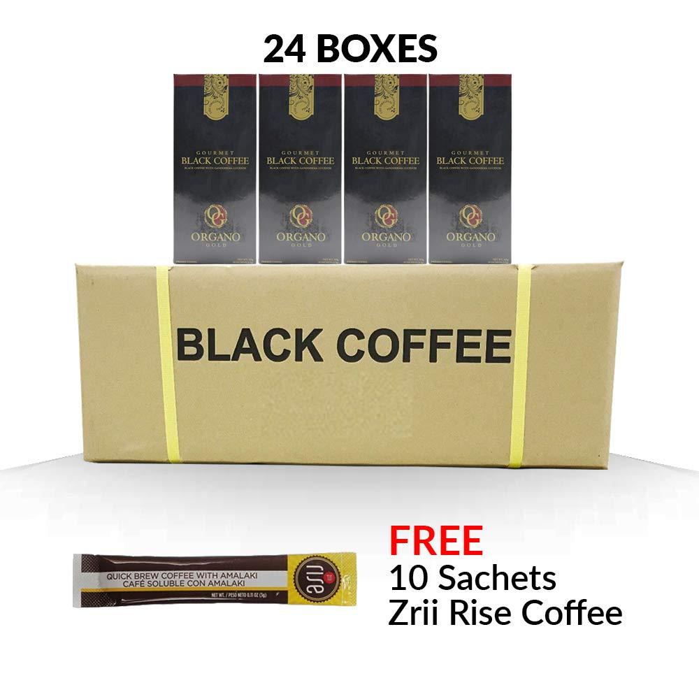 24 box Organo Gold Gourmet Black Coffee + 10 Zrii Rise Sachet FREE Express 2-3 Day by Organo Gold (Image #1)