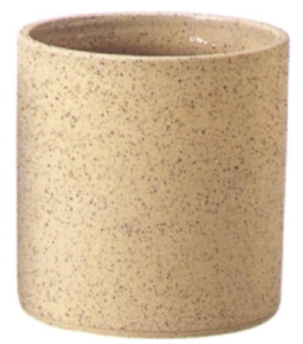 アドミナ 鉢カバー 10号用 39cm ライトブラウン【ケプラー K-7】 陶器 信楽焼き 穴なし おしゃれ (10号, ライトブラウン) B07B2DQZXP 10号|ライトブラウン
