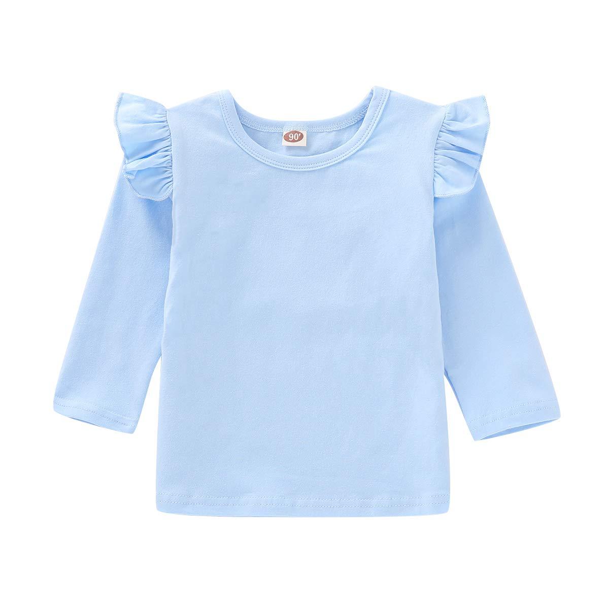 Floral Cross Overall Princess Dress 2Pcs Toddler Baby Ruffle Sleeve Overall Skirts Set Little Girls Cotton Shirts Top