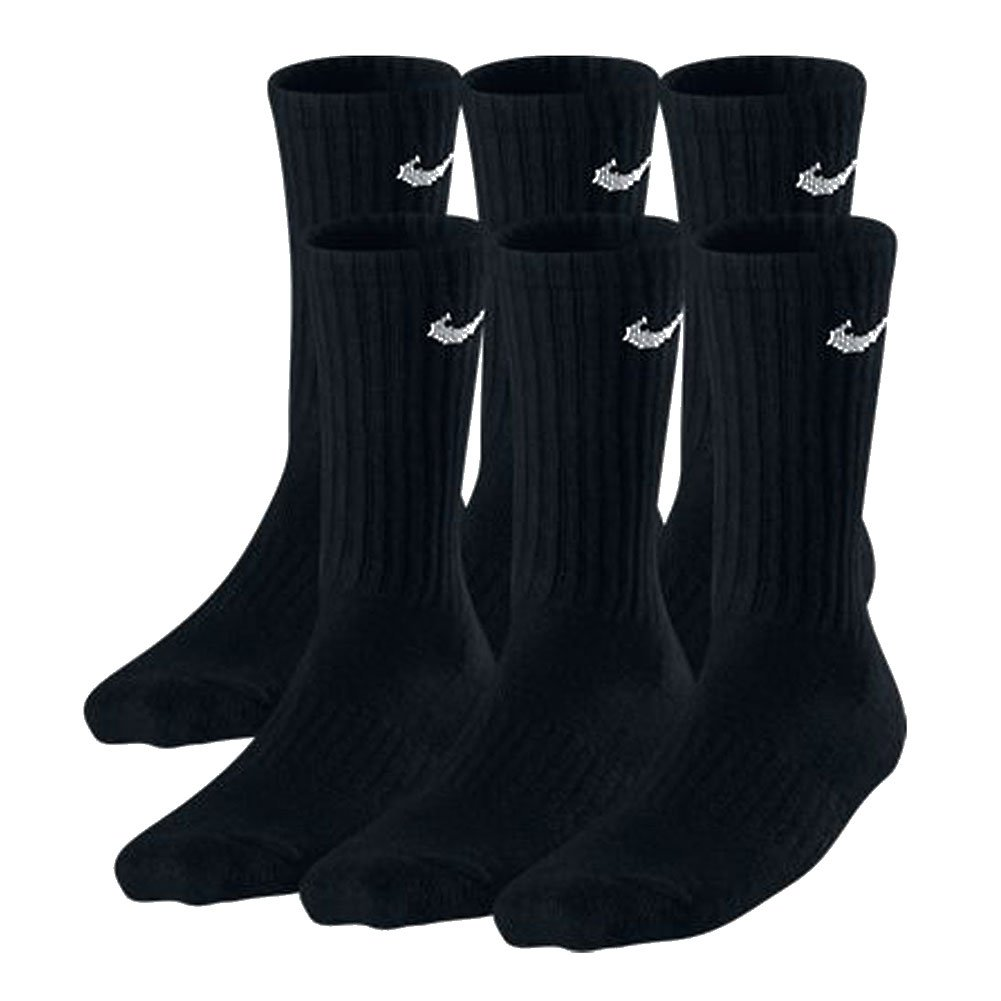 Nike Boys Crew Socks - 6 Pair Black: Amazon.es: Deportes y ...