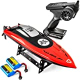 Altair AA102 RED RC Boat for Pools or Lakes [Ultra Fast Pro Caliber] Water Safety Propeller & Self Righting System | 2…