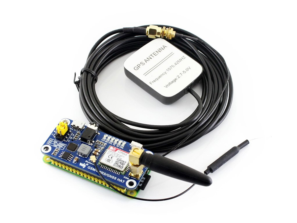 Waveshare 4G//3G//2G//GSM//GPRS//GNSS Hat for Raspberry Pi
