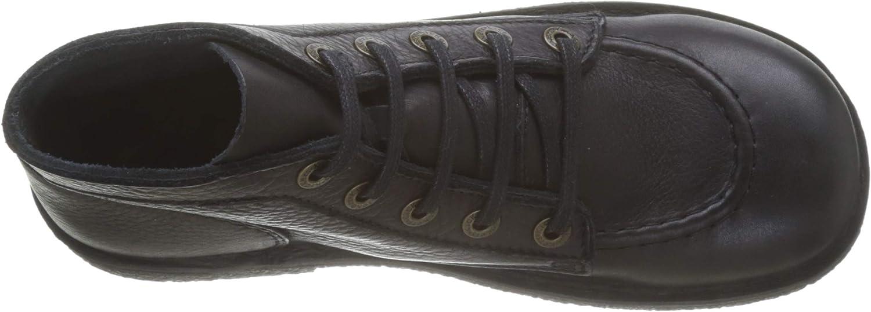 Kickers Legendiknew, Zapatos de Cordones Derby para Mujer Negro Noir Sem Noir Perm 82 lrbwc5Hv